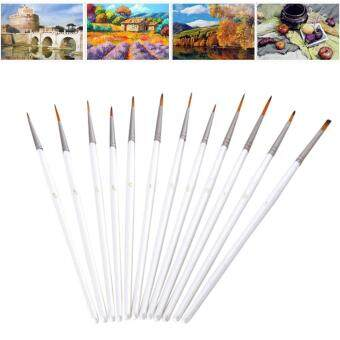 Harga leegoal 12pcs Miniature Art Brushes Set For Art Painting AcrylicWatercolor Oil Painting Supplies