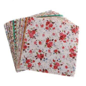 MagiDeal 50 Bundles of Square Cotton Fabric Patchwork Lint DIY Sewing Crafts