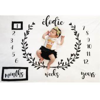 MagiDeal Newborn Baby Letter Milestone Blanket Photography Prop
