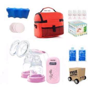 Harga Malish Aria Double Electric Breast Pump Value Package + FREE GIFTS