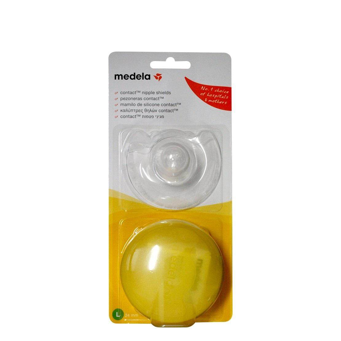 [MEDELA] Contact Nipple Shields - 24mm (Large) *1 Pair*