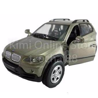 Newray Die-cast BMW X5 2007 Car 1:32 Gold Color Model Collection Gift