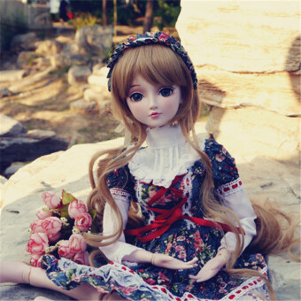 Harga Night Lolita yeluo Li doll kimono red and black plaid BJD costume sports dress Christmas dress snow swirling Chiba