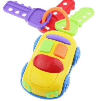 OEM Plastic Music Key Car Colorful Newborn Developing Light Music Toy (Yellow)