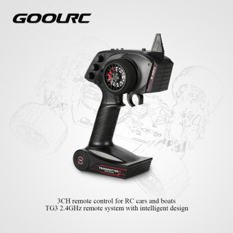 Harga Original GoolRC TG3 2.4GHz 3CH Digital Radio Remote Control Transmitter with Receiver for RC Car Boat