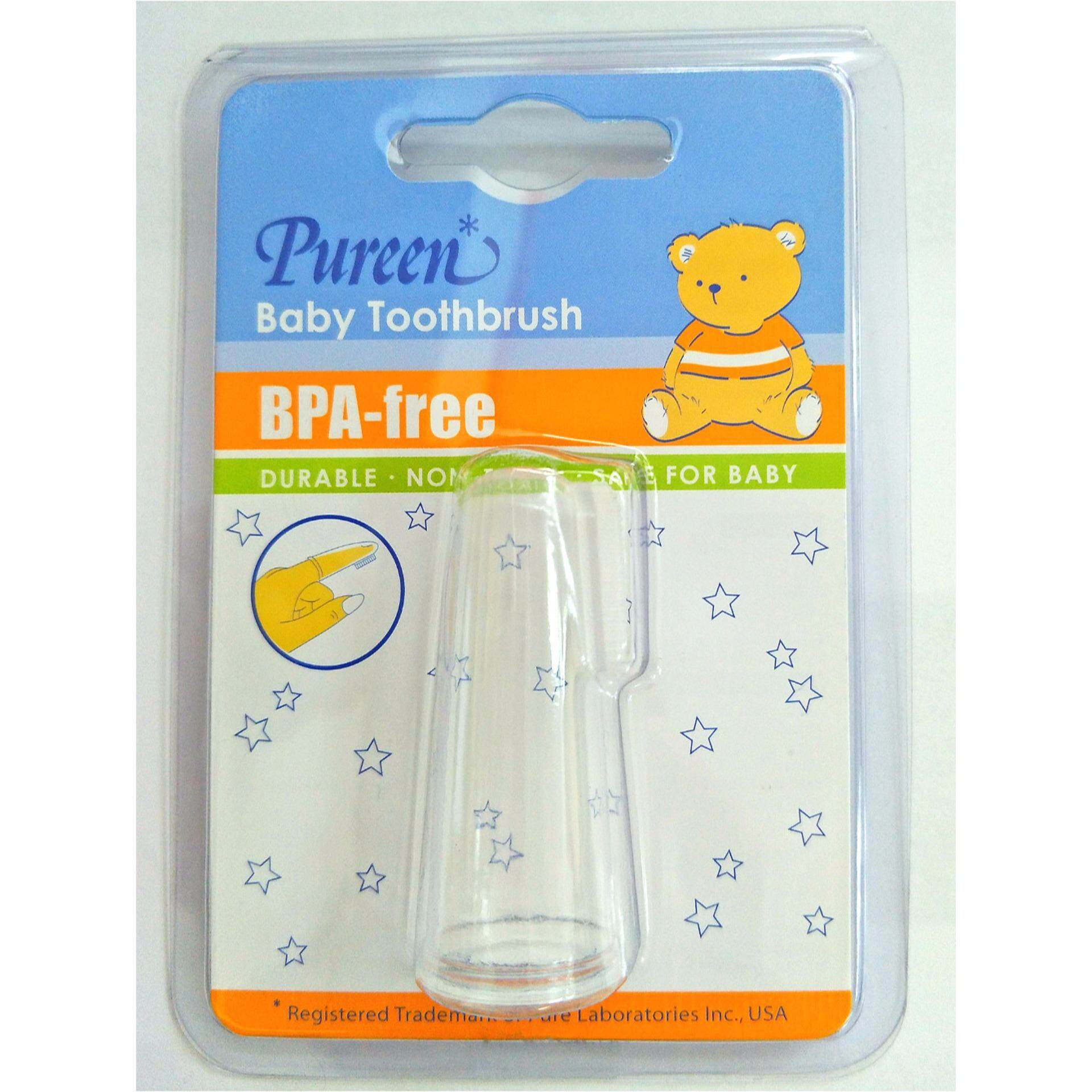 Pureen Baby Toothbrush Finger Shape (BPA-Free)