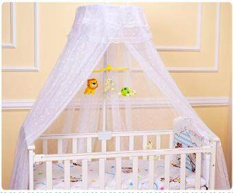 Harga QQ Crib mosquito net bed baby bed mosquito net bed children bedtelescopic mosquito net White