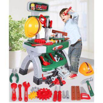 Quality Power Childrens Work Bench Kids Play Set Tools Diy Tool Kit Pretend Play Toy