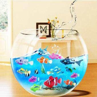 Harga Robofish Activated Battery Powered Robo Fish Toy Fish Robotic FishTank Aquarium Ornaments Decorations(Orange)