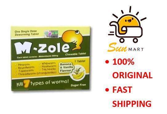 M-ZOLE / M ZOLE CHEWABLE TABLET Ubat Cacing Mebendazole 500mg 1S