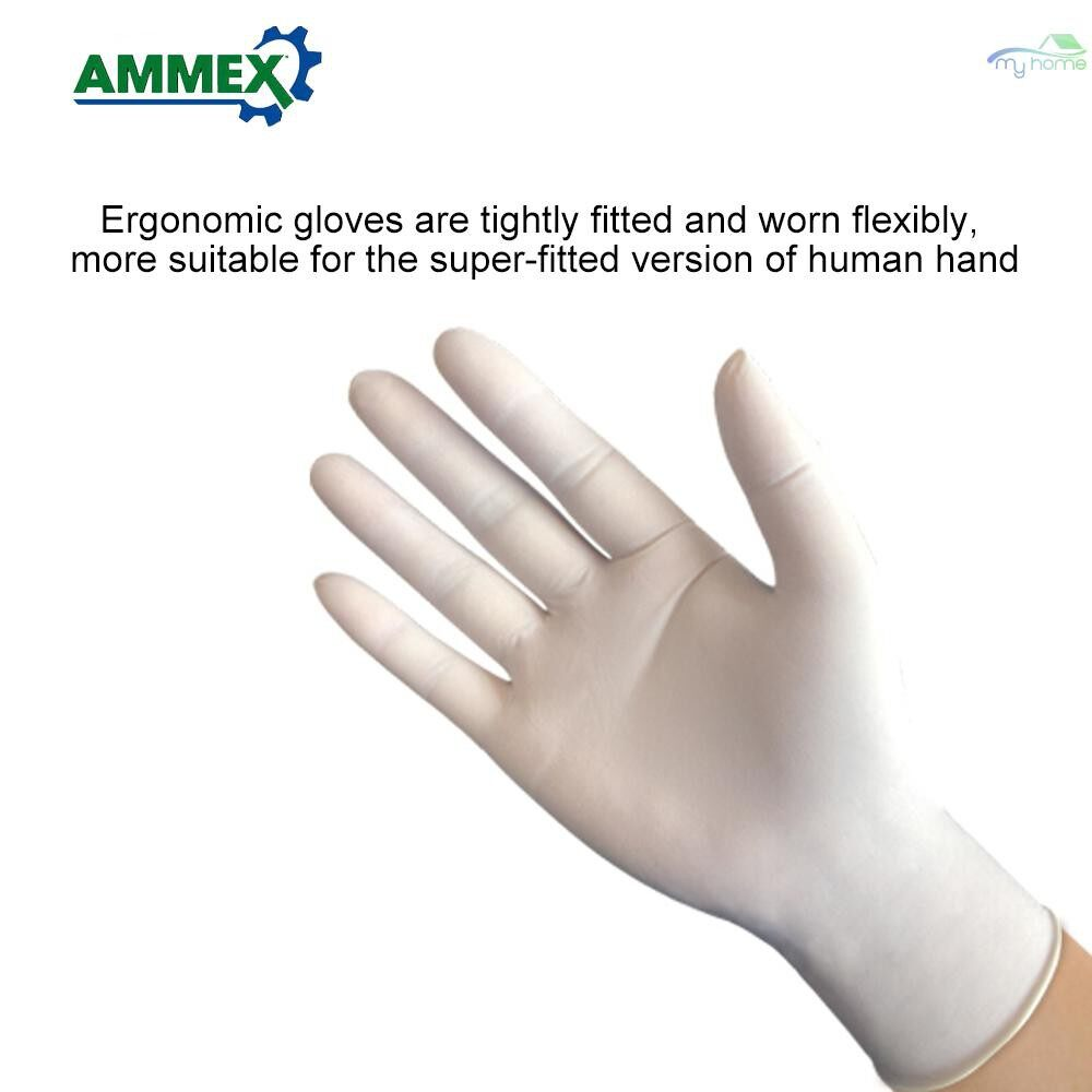 Protective Clothing & Equipment - Disposable Powder-free Latex Gloves Home Industry Food Dental Medical Gloves Thicken Rubber - L / M / S