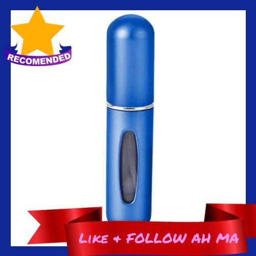 Best Selling Portable Mini Refillable Perfume Bottles Atomizer Spray Pump for Travel 5ml (Blue)