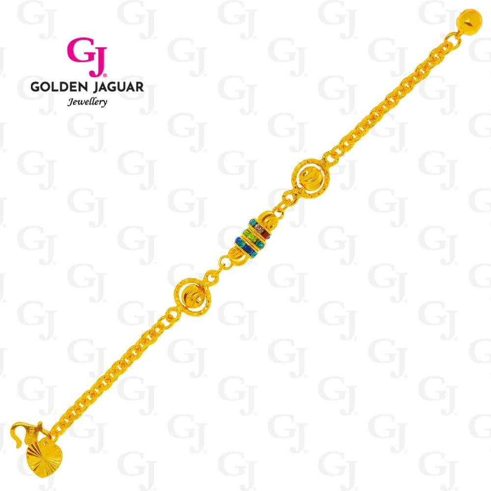 GJ Jewellery Emas Korea Bracelet - Bulan Sabit Z Rainbow Kids (9260682)