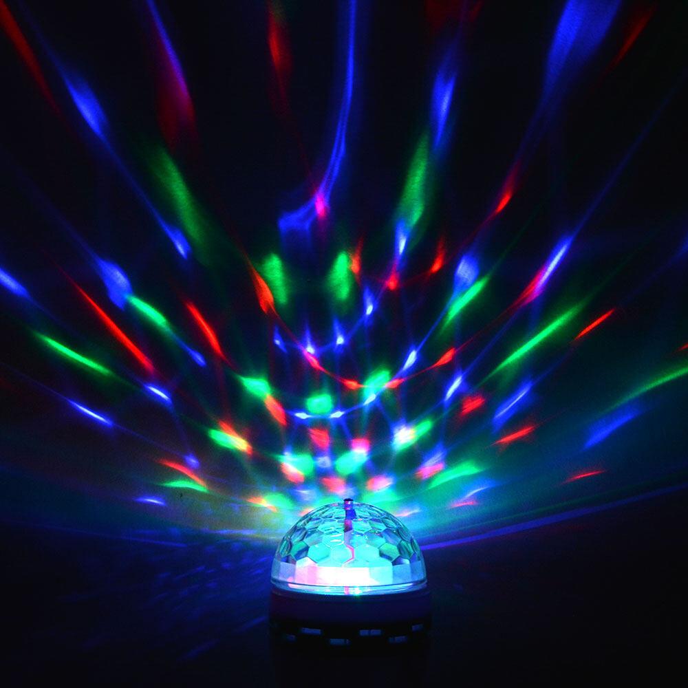 E27 Full Color RGB LED Auto Rotating Lamp Party Light
