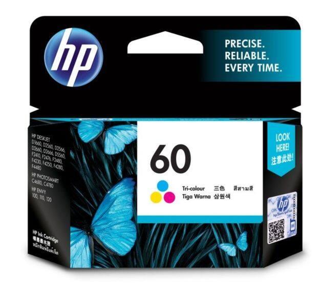 HP 60 Tri-color Original Ink Cartridge (CC643WA/60) Tri Color