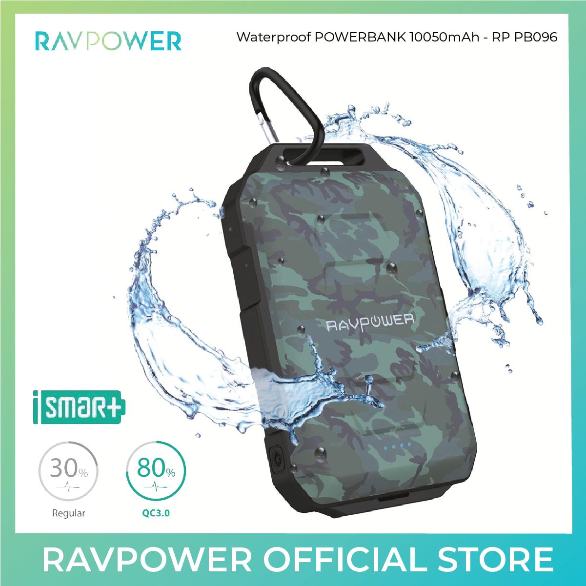 RAVPower Rugged Portable Charger 10050mAh - RP-PB044