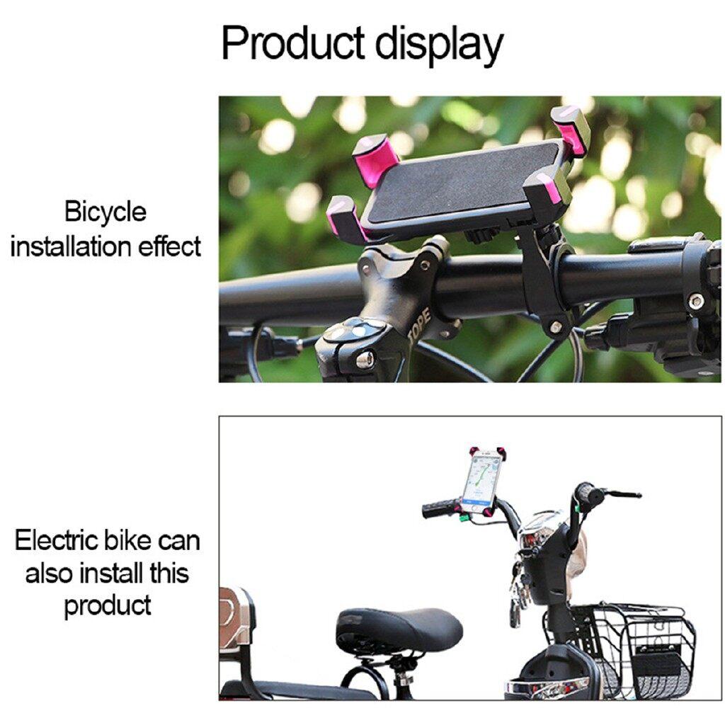 Moto Accessories - 360 Rotatable Adjustable Motorcycle Bicycle Bike Mount Phone Holder Handlebar - BLACK-MOTORCYCLE / RED-BICYCLE / BLACK-BICYCLE / RED-MOTORCYCLE
