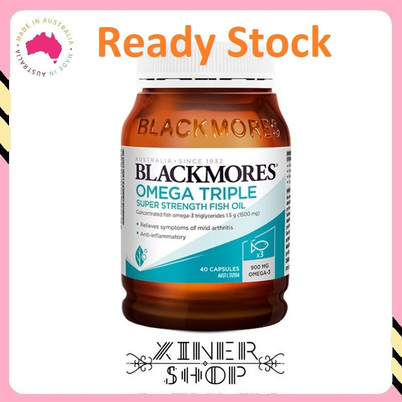 [Ready Stock EXP Date: 01/2022] Blackmores Omega Triple Concentrated Fish Oil ( 150 Capsules )( Made In Australia )