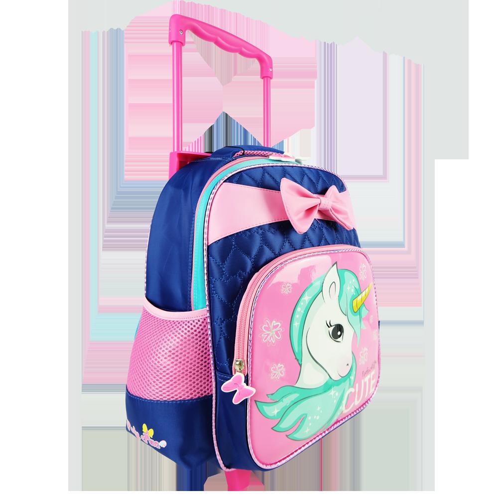Poly-Pac PK1937R 14 Inch Kindy Trolley School Bag - Navy