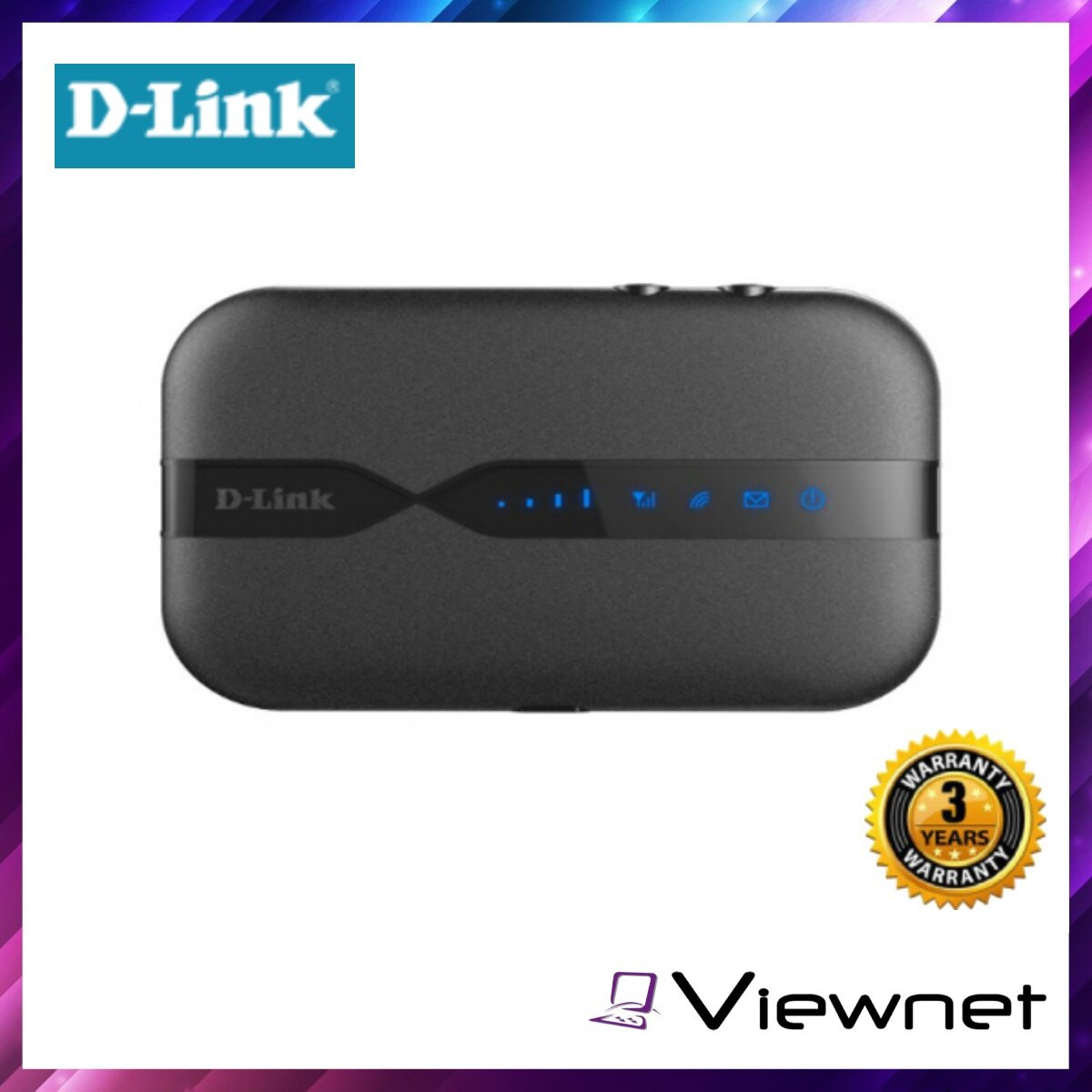 D-Link Portable WiFi Modem Router (DWR-932C-E1) N300 4G LTE, Micro USB port, Micro SD slot for 32GB (DWR-932C E1)