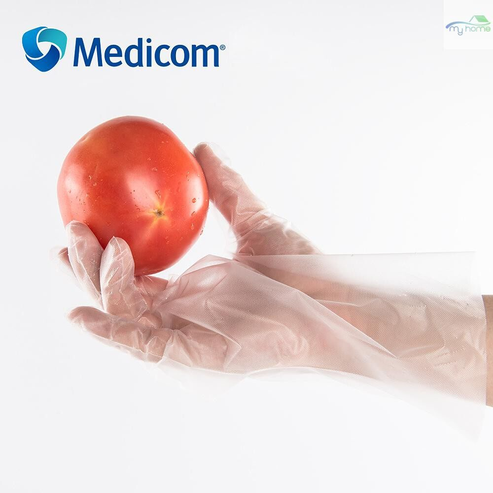 Protective Clothing & Equipment - Medicom 1210C 100 PIECE(s) Disposable CPE Gloves Housekeeping Gloves Powder Free Food Grade High - TRANSPARENT