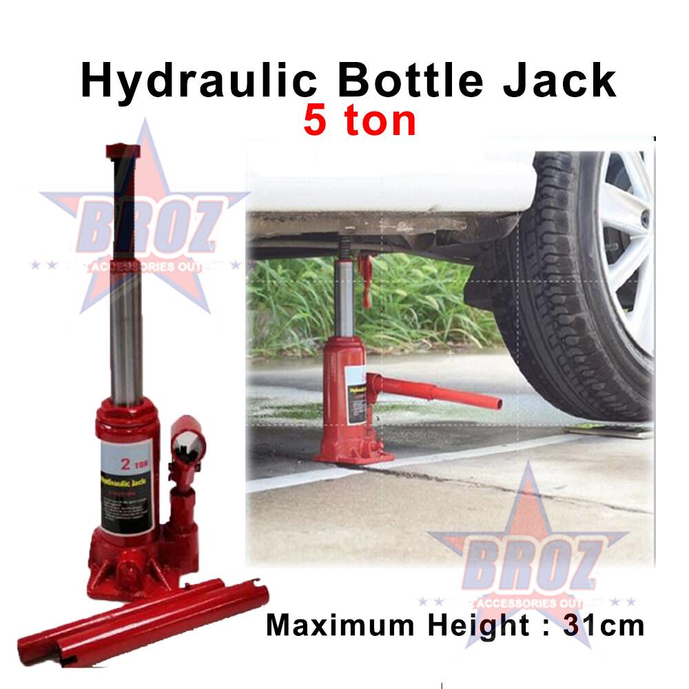 HEAVY DUTY HYDRAULIC BOTTLE CAR JACK - 5 TON (Maximum Height 31 cm) Jack Kereta Car Jack