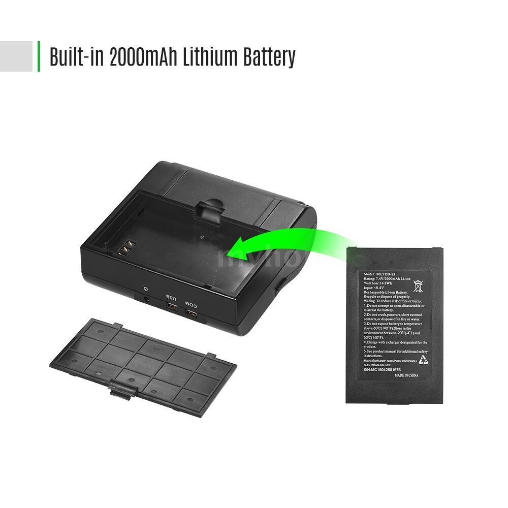 Printers & Projectors - PORTABLE MINI Personal 80mm WIRELESS Wifi Thermal Receipt Pinter with Rechargeable Battery USB - Computer & Accessories