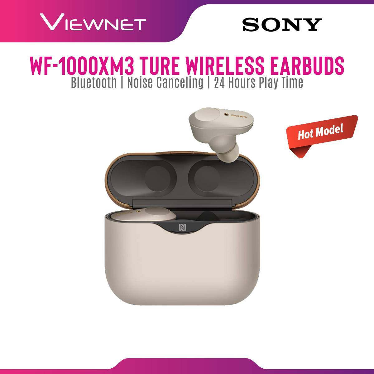 [HOT MODEL] Sony WF-1000XM3 WF1000XM3 Premium Bluetooth Wireless Noise Cancelling In-ear Headphones Earbuds with Charging Case
