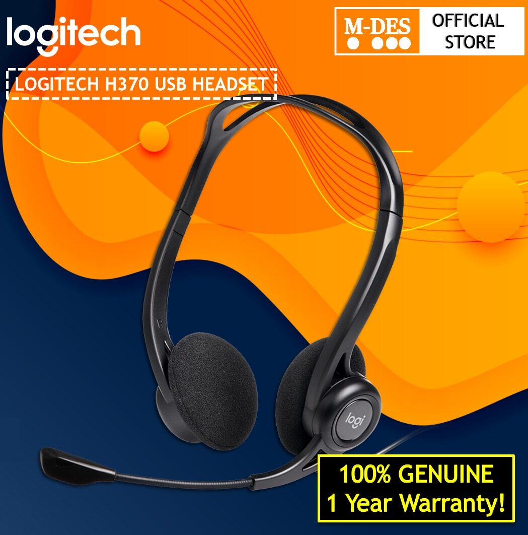Logitech H370 USB Wired Headset With Noise Cancelling Mic, Digital Quality Sound