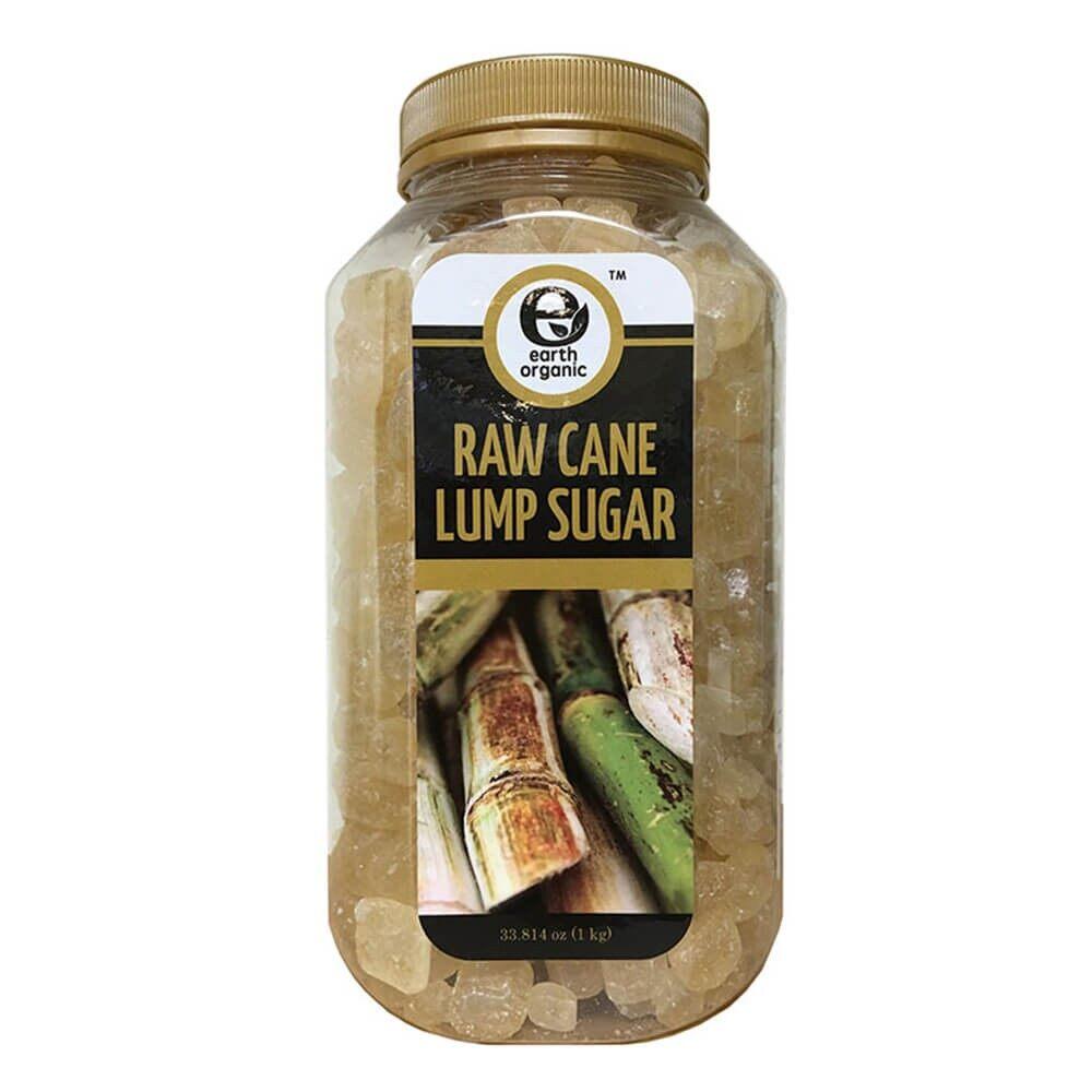 Earth Organic Raw Cane Lump Sugar 1Kg
