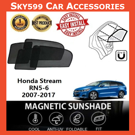 Honda Stream 2007-2017 Magnetic Sunshade [6 PCS]