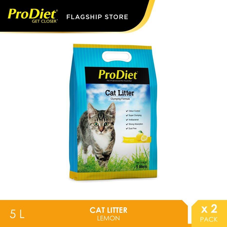ProDiet Cat Litter 5L - Lemon X 2 Packs [pasir kucing]