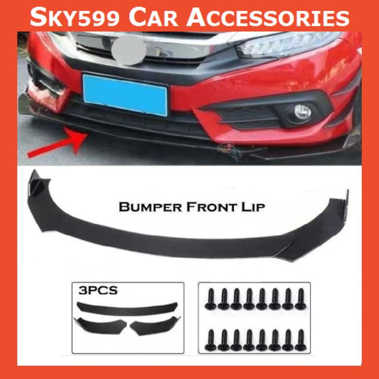 Car Universal Front Bumper Diffuser Lip Wrap Angle Splitters Black All Model