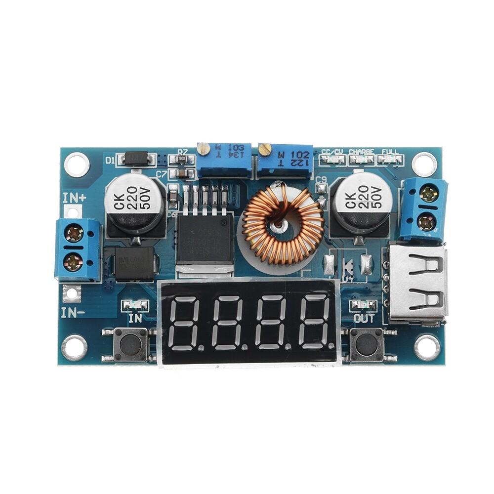 DIY Tools - DC To DC 12V Turn 5V Step Down Module With USB Port Adjustable Voltage Current - Home Improvement