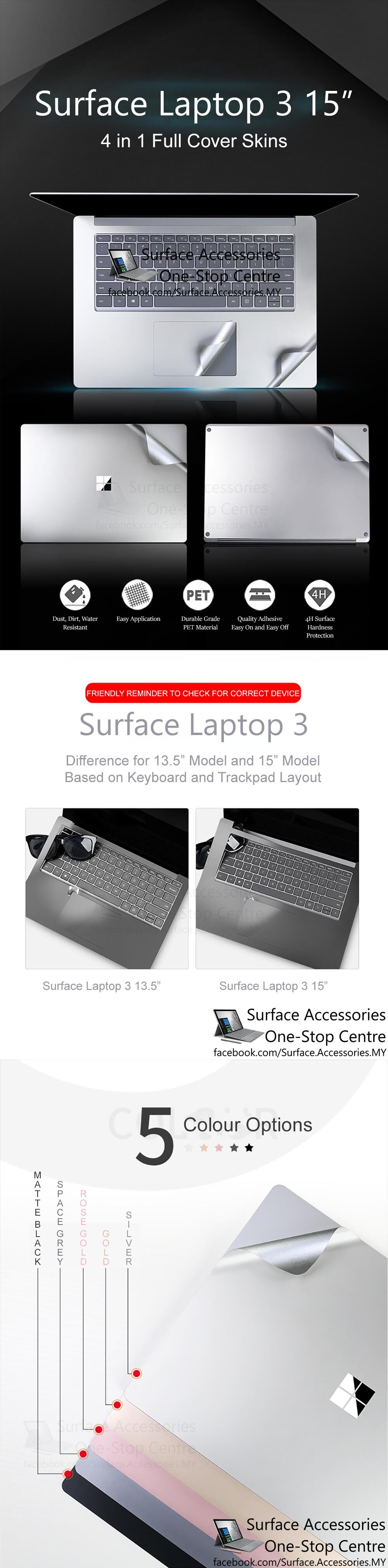 [MALAYSIA]Microsoft Surface Laptop 3 15 Skin Cover Protection Microsoft Surface Laptop 3 15 Wrap Microsoft Surface Laptop 3 15 Skin Microsoft Surface Laptop 3 15 Vinyl Wrap Microsoft Surface Laptop 3 15 Decal