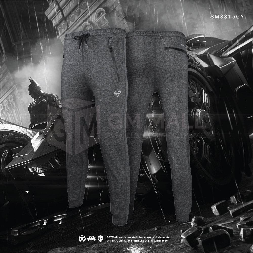 SUPERMAN DC Exclusive Grey Jogger Men Sport Gym Jogging Training Pants – Casual Sport Running Pants [SM8815GY]