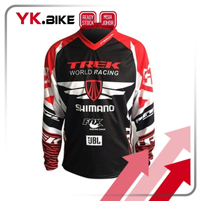 YKBIKE [LOCAL READY STOCK] Motocross Jersey Breathable Long Sleeve Downhill Jersey Quick Dry Outdoor Sport Clothing APL40