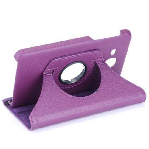 LICHEE PATTERN 360 DEGREE ROTATING COVER WITH AUTO SLEEP WAKE UP FUNCTION FOR SAMSUNG GALAXY TAB A 7.0 T280 / T285 (PURPLE)