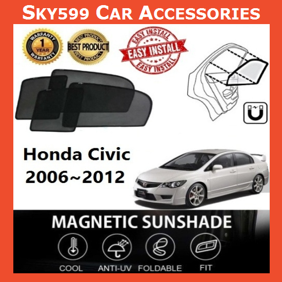 Honda Civic 2006-2012 Magnetic Sunshade ?4pcs?