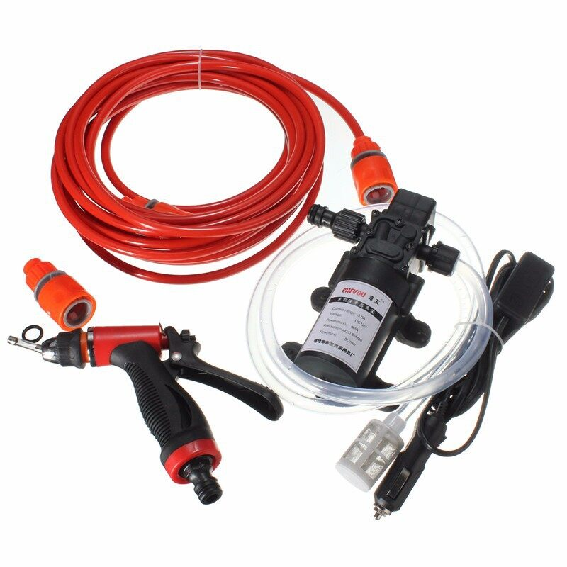 Tyres & Wheels - 60W High Pressure Self-priming Electric Car PORTABLE Wash Washer Water Pump 12V - Car Replacement Parts