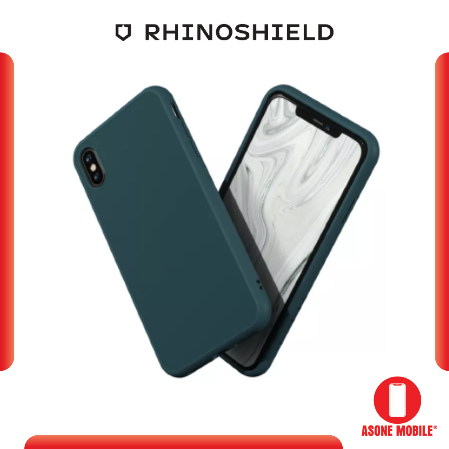RhinoShield SolidSuit Dark Teal IPhone XR / XS / XS Max / X Shock Absorbent Slim Design Protective Cover With Premium Matte Finish 3.5M / 11ft Drop Protection Case