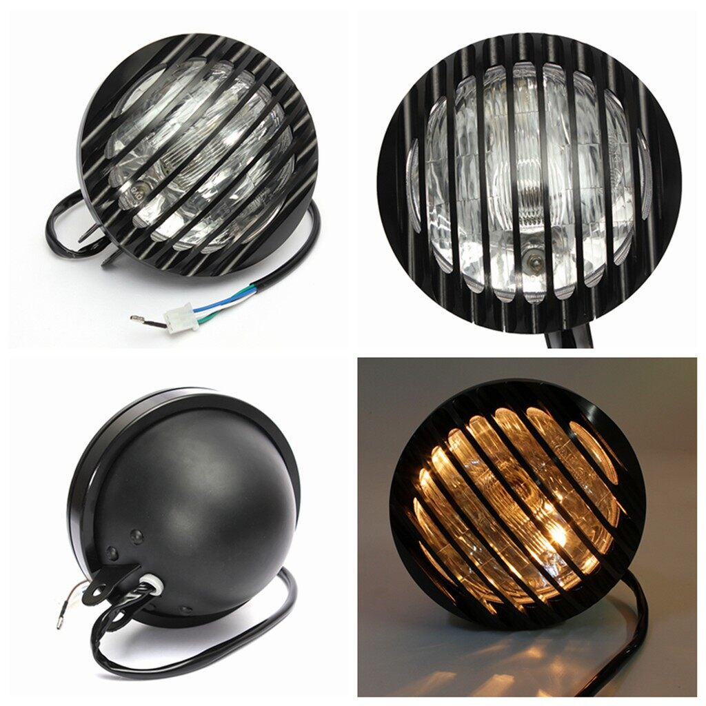 Moto Accessories - Motorcycle Headlight CNC Grill Cover Lights For Harley - Motorcycles, Parts