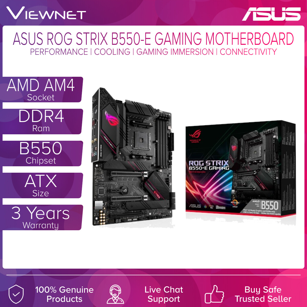 Asus ROG Strix B550 Gaming series motherboards offer a feature-set usually found in the higher-end ROG Strix X570 Gaming series, including the latest PCIe® 4.0.