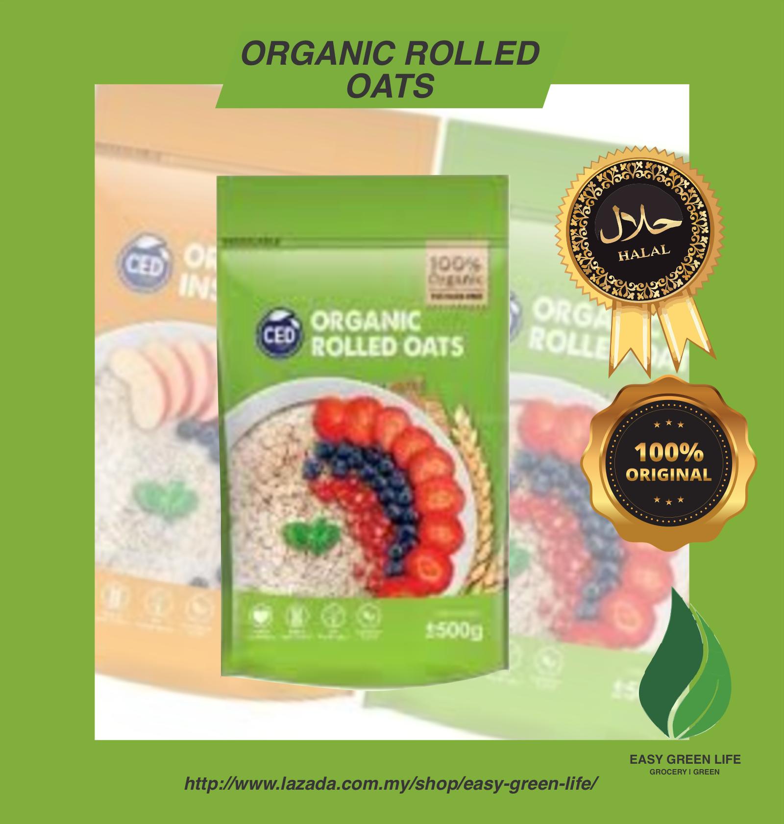EGL CED Organic Rolled Oats 500g/Organik Rolled Bijiran