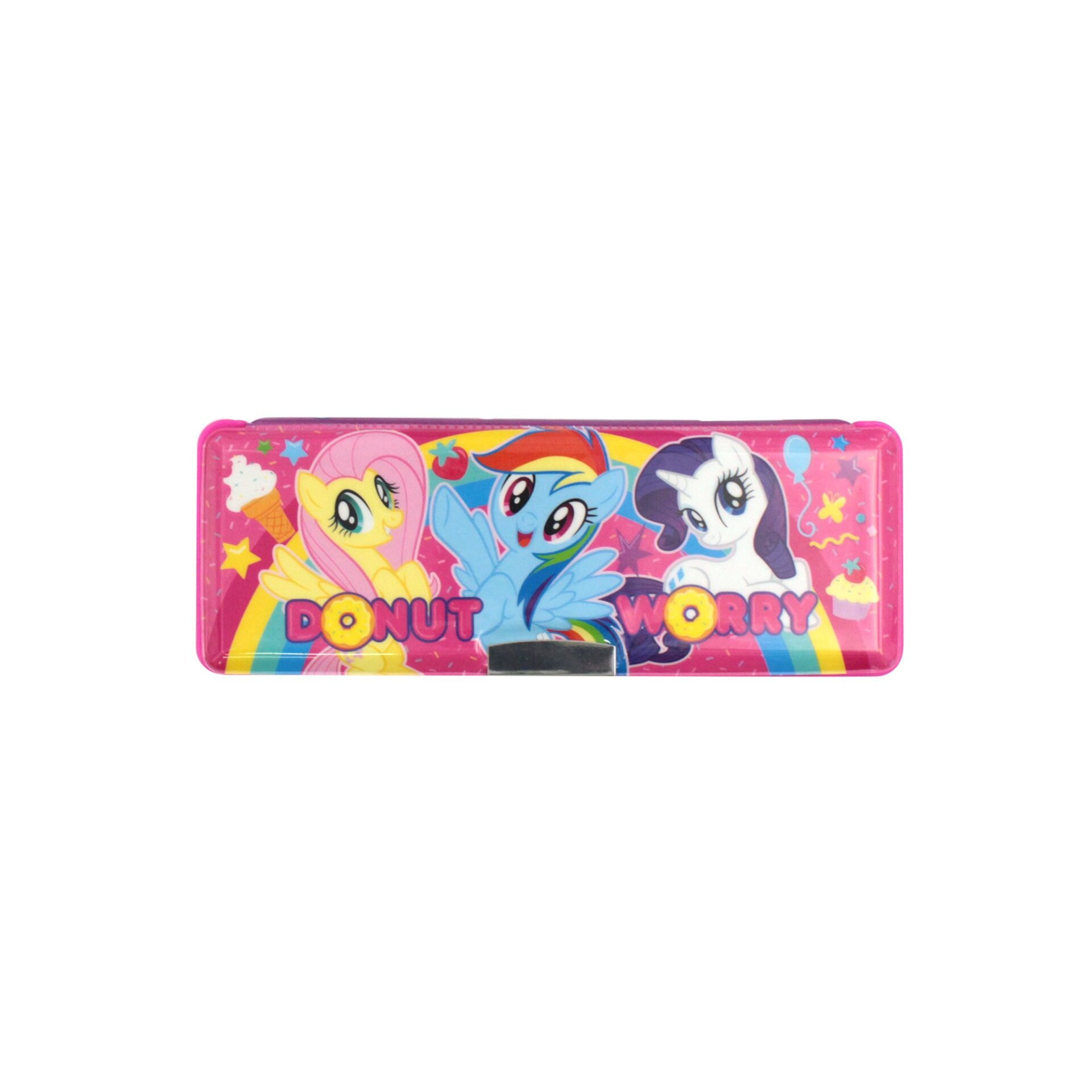 My Little Pony Uni-Cone 2 Way Compartment With Built-In Sharperner Children School Stationery Magnetic Pencil Case