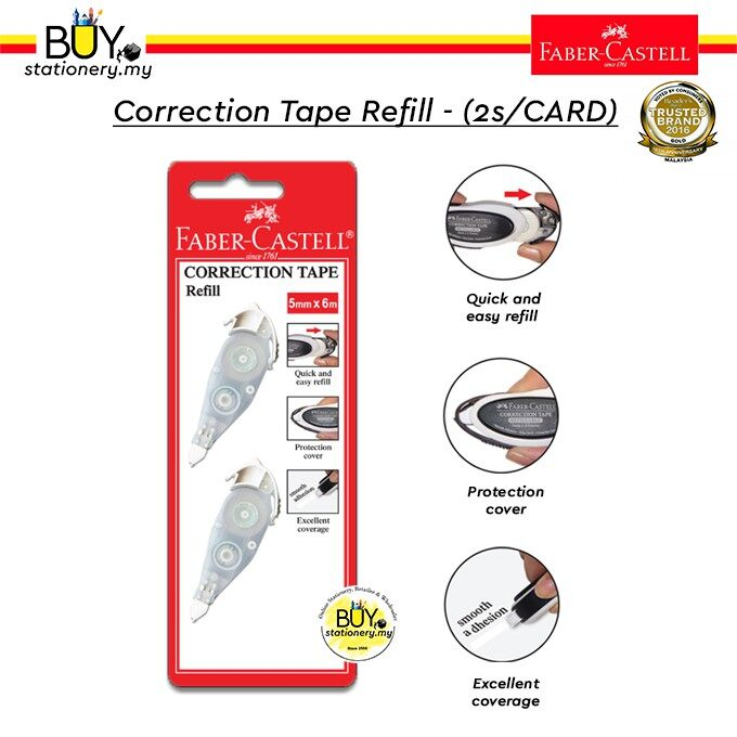 Faber Castell Correction Tape Refill - (2s/CARD)