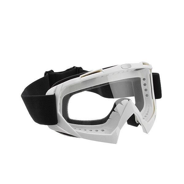 Moto Accessories - Clear Skiing Windproof Anti-UV Goggles Climbing CS Dust-proof Glasses Lens - WHITE / BLACK