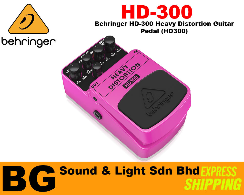 [SHIP OUT EVERYDAY]Behringer HD-300 Heavy Distortion Guitar Pedal (HD300)