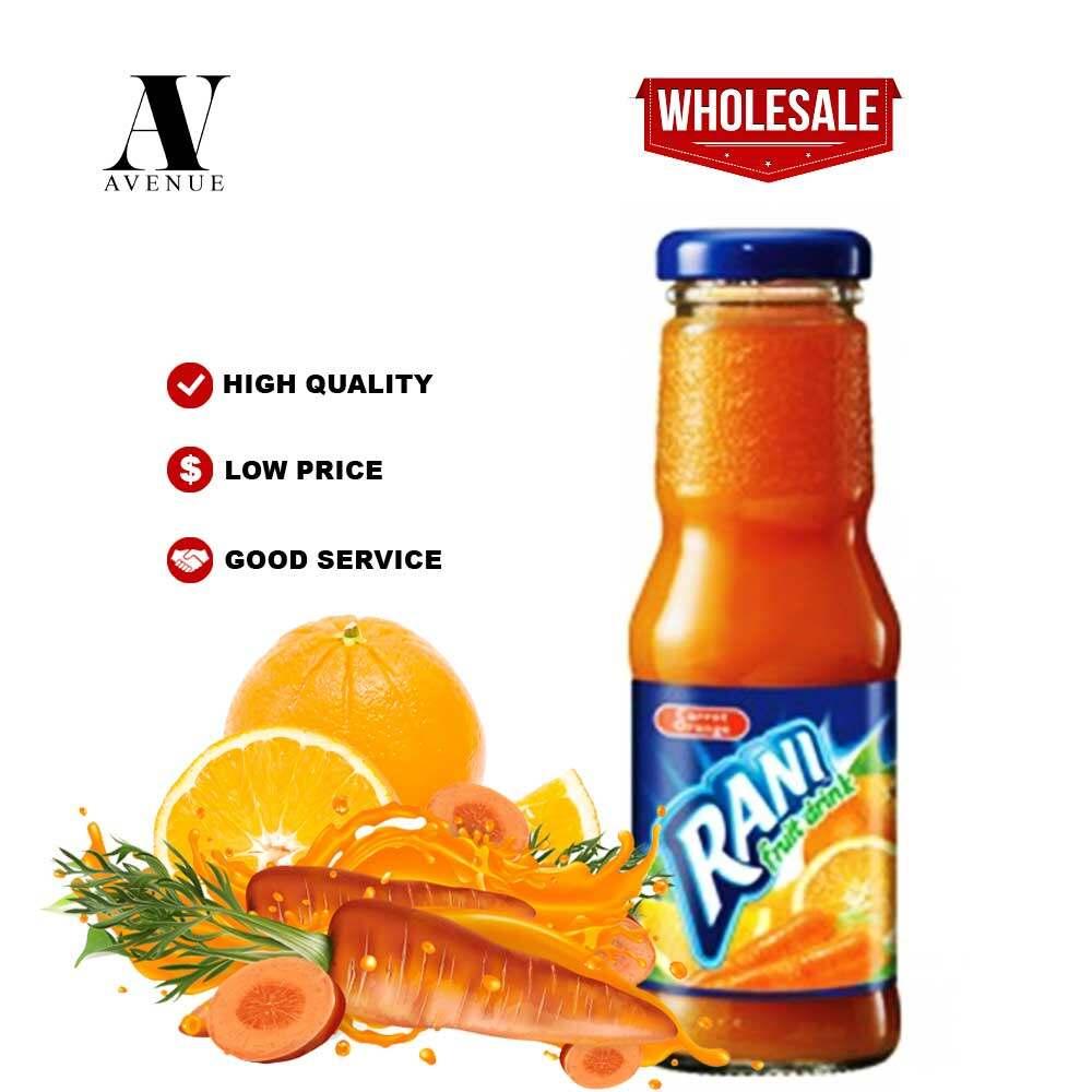 Rani  Carrot & Orange Fruit Drink 200 ml glass bottle