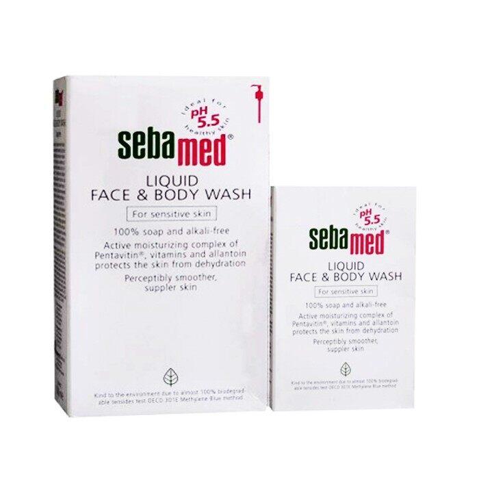 Sebamed Liquid Face and Body Wash Pump 1000ml Free 200ml